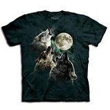 『摩達客』美國進口【The Mountain】自然純棉系列 三狼嚎月設計T恤 (預購)