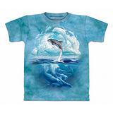 『摩達客』美國進口【The Mountain】自然純棉系列 海豚天空設計T恤 (預購)