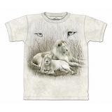 『摩達客』美國進口【The Mountain】自然純棉系列 白獅設計T恤 (預購)