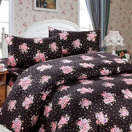 幸福晨光【英式鄉村-星躍】雙人四件式精梳棉床包被套組
