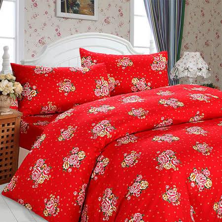 幸福晨光【英式鄉村-醇香】雙人加大四件式精梳棉床包被套組