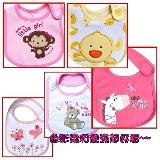 【BabyTiger虎兒寶】可愛造型圍兜/口水巾6件組~女寶寶款(不挑款隨機出貨)