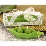 【PS Mall】歐美婚禮小物禮物、雙雙綠豌豆蠟燭_2個 (J1277)