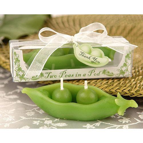 ~PS Mall~ 婚禮小物 、雙雙綠豌豆蠟燭_2個 ^(J1277^)