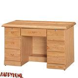 HAPPYHOME 免組裝4.2尺正赤楊實木書桌