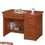 HAPPYHOME 免組裝3.5尺柚木色書桌