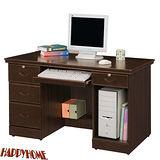 HAPPYHOME 免組裝4.2尺胡桃色電腦桌