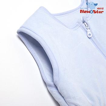 【聖哥-Newstar】MIT嬰幼兒必備四季保暖防踢睡袍-(暖暖鋪棉-好穿背心式-100%純棉)-媽咪推薦-好用100分-不怕踢被子-藍-粉