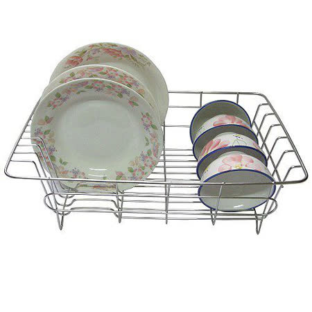 【純不鏽鋼】廚房-碗盤架/瀝水架/滴水籃(一入裝)