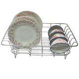 【純不鏽鋼】廚房-碗盤架/瀝水架/滴水籃+盤子(三入裝)
