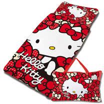 【享夢城堡】精梳棉舖棉冬夏兩用4X5兒童睡袋-HELLO KITTY 我的Ribbon時尚-紅