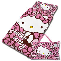 【享夢城堡】精梳棉舖棉冬夏兩用4X5兒童睡袋-HELLO KITTY 我的Ribbon時尚-粉