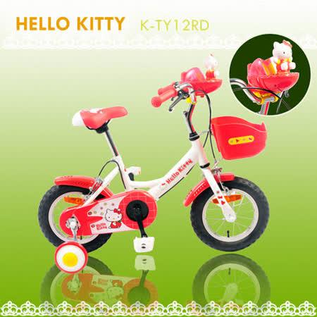 Hello Kitty 12吋小花音樂童車(K-TY12RD)-白