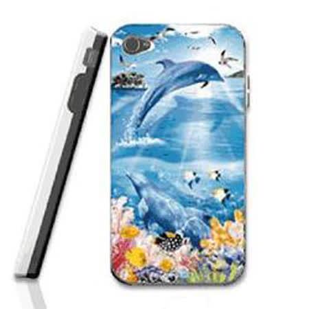 變色龍 Flash Phone Case I4/4S 3D手機殼 蔚藍天堂 10197