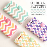【Happymori】※Summer pattern※ 側開手機皮套 適用iphone4s/4 Galaxy S2 i9100