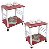 固定腳-活動輪-邊桌(二款可選)喜氣紅色[二入]