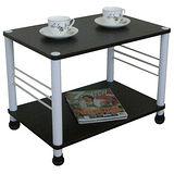 寬60cm邊桌(二款腳座可選)深胡桃木色