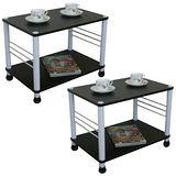 寬60cm邊桌[二入](二款腳座可選)深胡桃木色