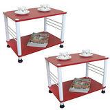 喜氣紅色邊桌2入(二款腳座)