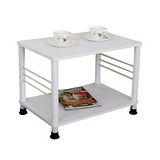 素雅白色邊桌(二款腳座可選)