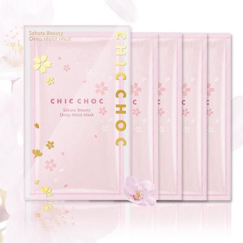 CHIC CHOC 櫻花水潤面膜 (30ml*5入/盒)