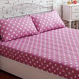 J‧bedtime【甜甜圈-冰沙紫】單人床包式防潑水保潔墊