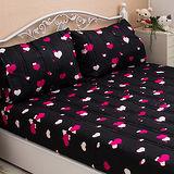 J‧bedtime【心電心-黑莓】雙人床包式防潑水保潔墊