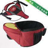 多功能抱嬰腰帶坐椅/腰凳_附可拆式護嬰托背帶(紅色)