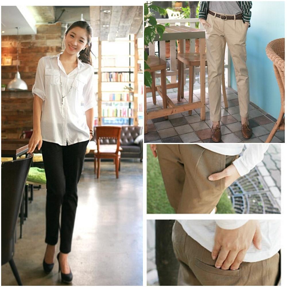 【韓系女衫】秋季新款百搭修身顯瘦小腳鉛筆褲(有較大尺碼)