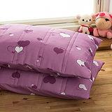 J‧bedtime【心電心-蘭紫】防潑水保潔枕墊(2入)