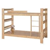 【優利亞-松木風情】單人3尺雙層床(不含床墊)