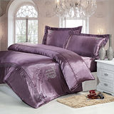 生活提案(處女座-紫)雙人加大四件式貼鑽被套床包組