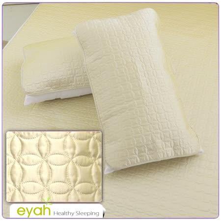 【EYAH宜雅】絲緞面立體花紋100%防水枕頭保潔墊(2入)-富貴金幣