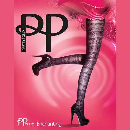 『摩達客』英國進口【Pretty Polly】蕾絲圖紋彈性絲襪
