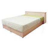 《顛覆設計》勁爆房間三件組-雙人5尺床頭箱+床底+獨立筒彈簧床墊