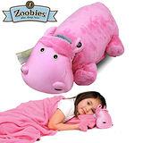 【Zoobies】毛毯寵物玩偶-Hada河馬