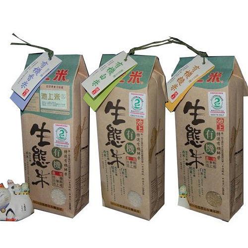 【陳協和池上米】白米+香米+糙米(1.5公斤X3包)