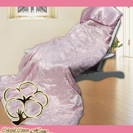 采棉居寢飾文化館-絲緞棉提花蠶絲被-紫