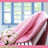 采棉居寢飾文化館-純綿提花蠶絲被-粉