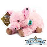 【Zoobies】毛毯寵物玩偶-Puddles粉紅豬