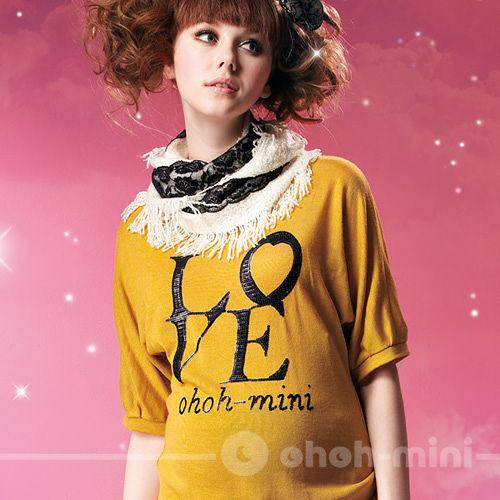【ohoh-mini】LOVE亮片刺繡孕婦上衣