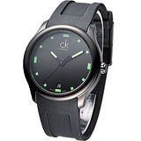 CK Visible 酷黑運動風時尚腕錶-綠.時刻