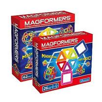 【Magformers】磁性建構片62片裝+26片裝(贈專用輪架包)