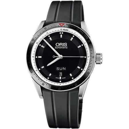 Oris Artix GT 單向轉圈機械腕錶(735.7662.41.54RS)-黑/42mm