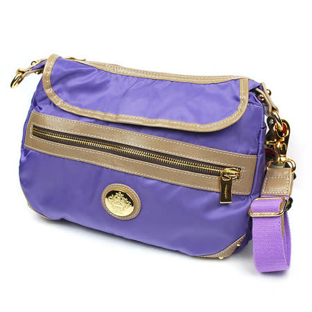 【OROBIANCO】紫色輕量高彩側背包