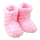 【iSFun】玫瑰絨毛熱感暖腳雪靴