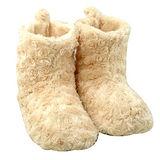 【iSFun】玫瑰絨毛熱感暖腳雪靴/米L