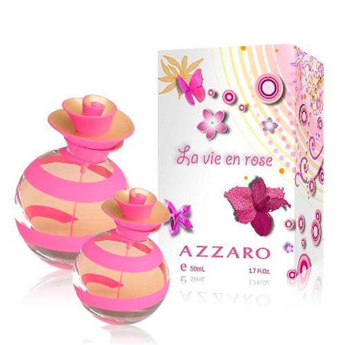 限量優惠組合~AZZARO Jolie Rose茱麗粉紅淡香水50ml+30ml
