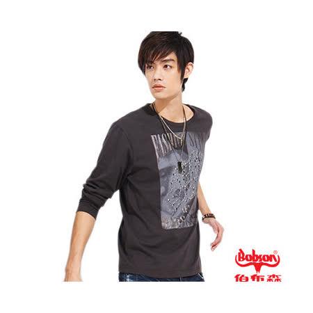 BOBSON 男款個性印圖長袖上衣(31015-76)