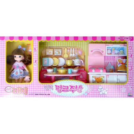 《家家酒玩具》迷你MIMI粉紅廚房